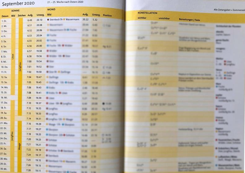 Calendario Biodinamico Settembre